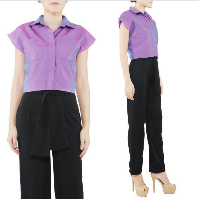 Trafetta Crop Shirt By poise24