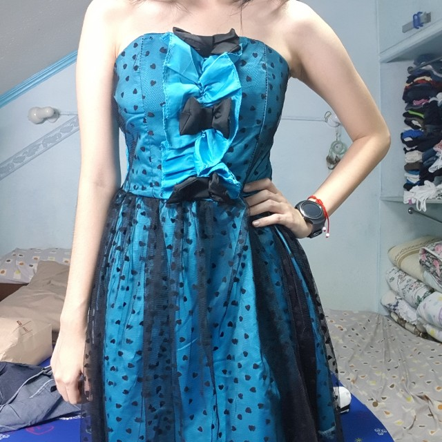 Tube party dress blue cute brand new