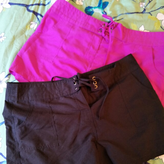 Two pairs NWOT Board shorts
