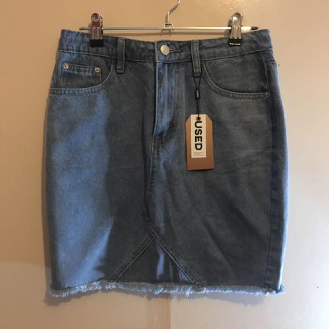 USED Brand Demin Skirt Size 8-10