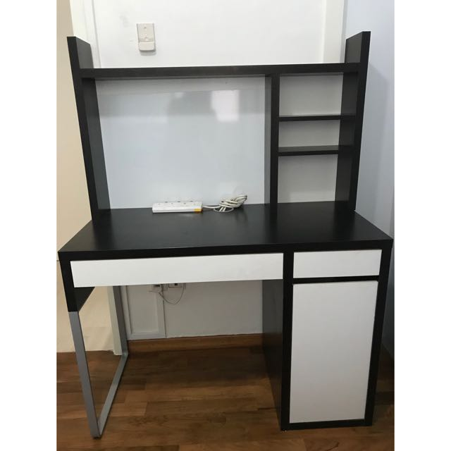 VGUC Ikea Micke Desk and Computer Table on Carousell