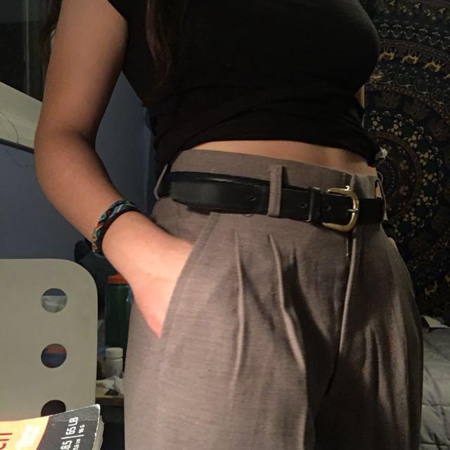 Vintage Pleated long pants (fits waist size 25-28)