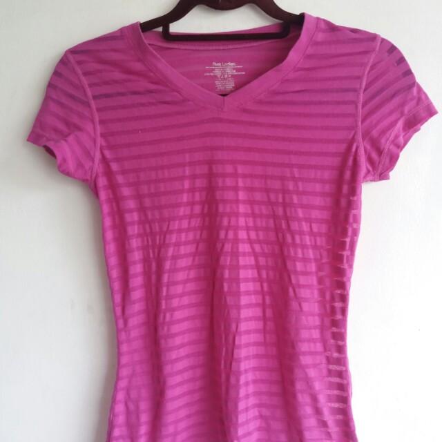 Violet semi see through shirt