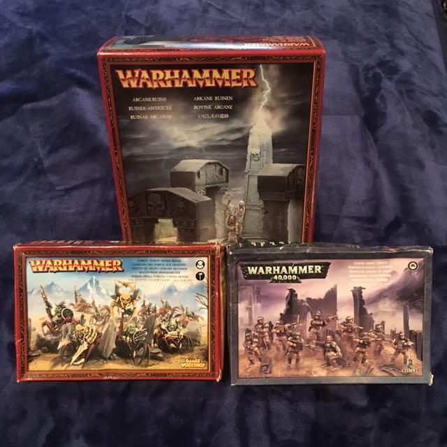 War Hammer - Arcane Ruins, Forest Goblin Spider Riders & Cadian Troops
