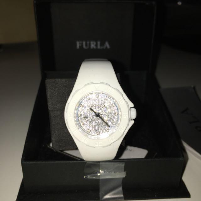 White Furla Watch