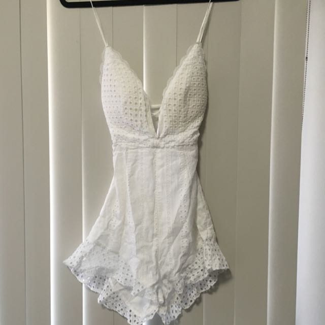 White Who I Am Playsuit 8/10