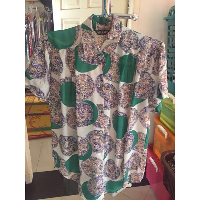 Women Shirt Blouse Pakaian Wanita Kemeja Blus Hongkong