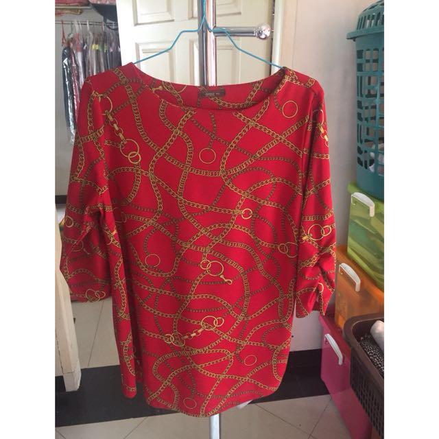 Women Shirt Blouse Pakaian Wanita Tangan Panjang Blus Espire