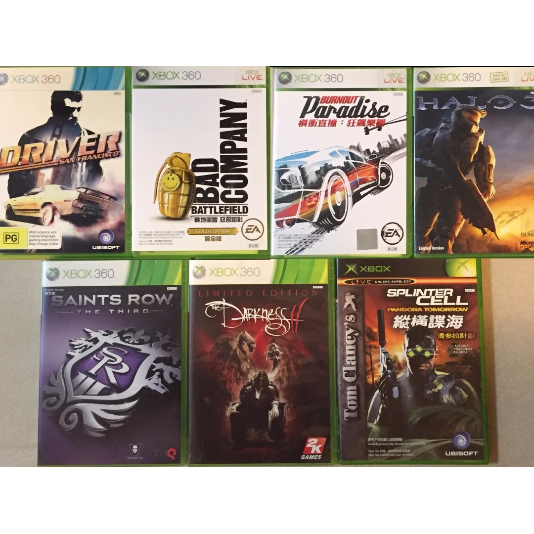 XBox 360 Games 遊戲 on Carousell
