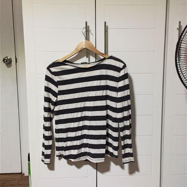 Zara Faded Striped Long Sleeves