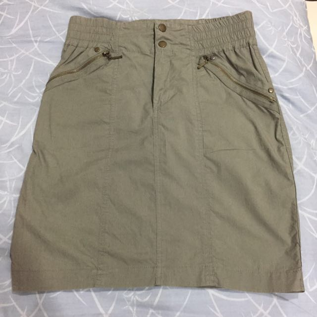 ZARA Khaki Skirt Size XS (24)