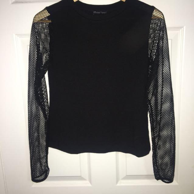Zara mesh long sleeve