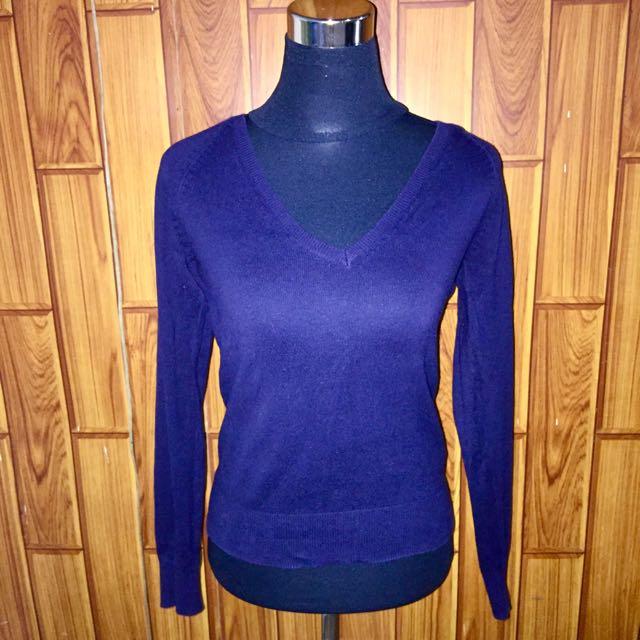 Zara navy blue pullover
