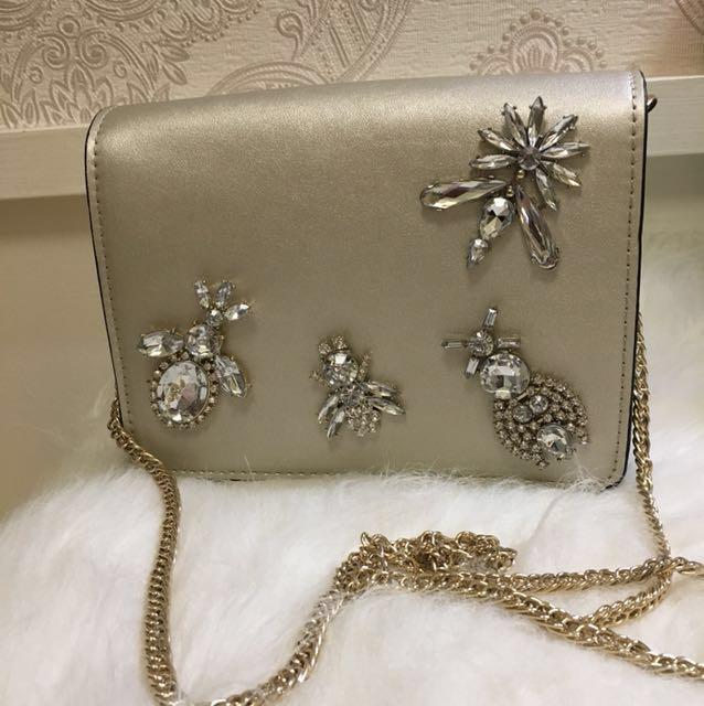 Zara TRF 金色鍊子包