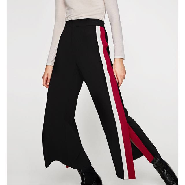 f31ed91a ZARA Trousers with Double Side Stripes, Women's Fashion, Clothes, Pants,  Jeans & Shorts on Carousell