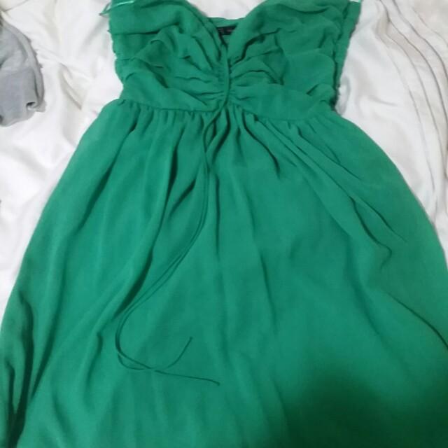 Zara tube dress jade green M