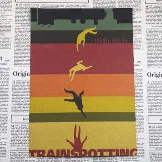 <猜火車>現+預 Trainspotting 英國經典電影海報復古牛皮紙海報 房間佈置 酒吧裝飾 $90-$150