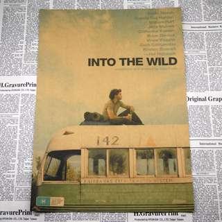 <阿拉斯加之死>現+預 Into the Wild 荒野生存 經典電影 背包客 旅人 牛皮紙海報 房間佈置 酒吧裝飾