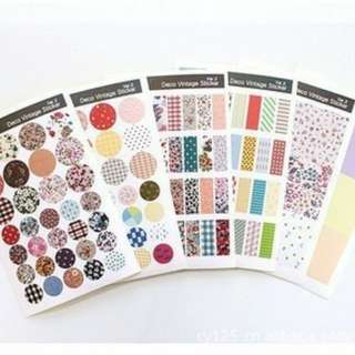 6 sheets Korean dress sticker