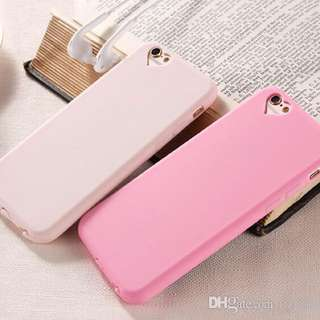 heart silicon pink iphone 6 case
