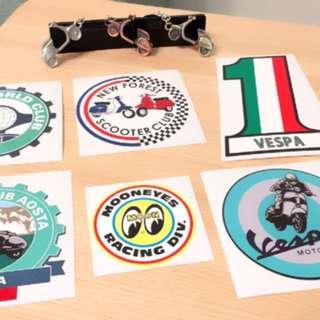 Vespa 偉士牌合金鑰匙圈+貼紙套組