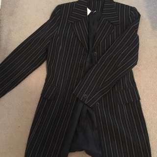 Long pinstripe vintage blazer