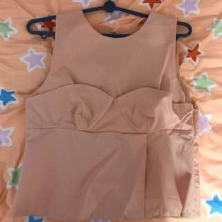 Zara pink peach top
