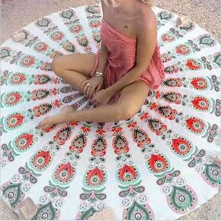 Beach towel round pattern