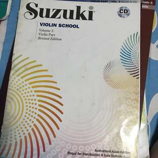 Suzuki Violin Volume 3 Book + CD