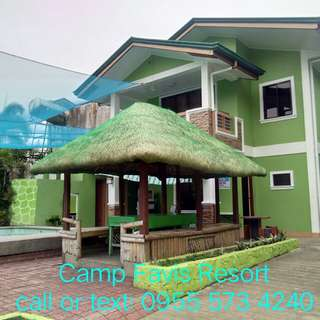 Camp Favis Hot Spring Private Pool Resort For Rent in Pansol Calamba Laguna