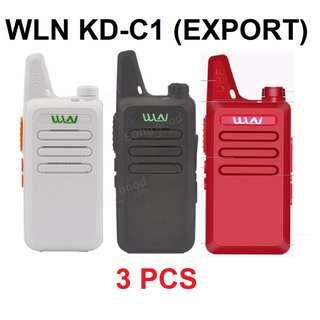 New stock, 3 pcs New model, military grade! WLN KD-C1 Mini UHF 400-470 MHz Handheld Transceiver Two Way Ham Radio HF Communicator Walkie Talkie *White, Black, Red* Export set