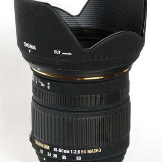 Sigma 18-50mm f2.8 EX DC Macro (Canon mount)