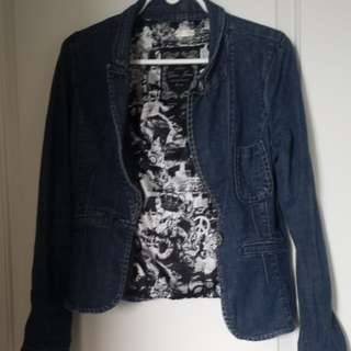Large guess jean jacket-fits medium