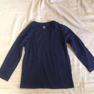 H&M Blue long sleeved top
