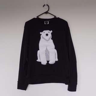 Polar bear long sleeve top size 8