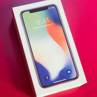Sealed Silver 256 iPhone X [Apple Store]
