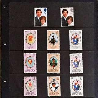 68 pieces of unused Royal Wedding Stamps of Prince Charles and Princess Diana in year 1981.