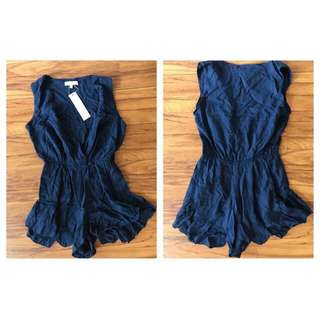 Navy Playsuit - BNWT