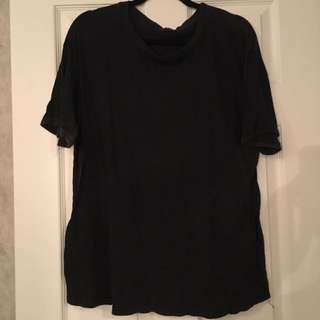 Brandy Melville faded black oversized top