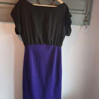 Paul & Joseph Paris blue and black mini dress size 42