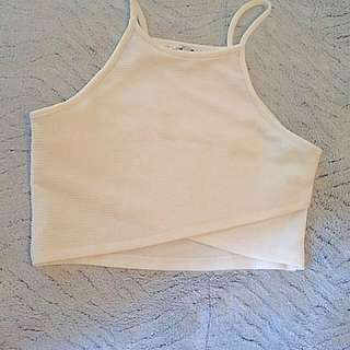 White crop top sizeS