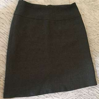 Grey office skirt size8