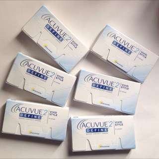 Brand New 2w ACUVUE DEFINE 6boxes