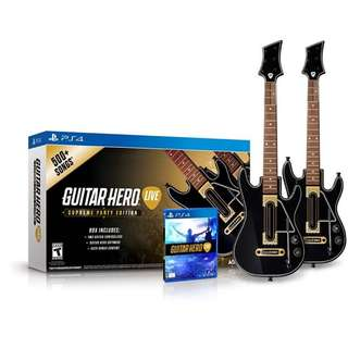 Guitar Hero Live Supreme Party Edition (2 Pack Bundle) For PS4