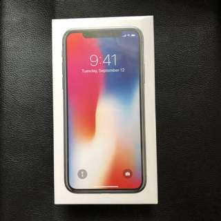 iPhone X 256GB Unlocked, Space Grey, Sealed, with Receipt