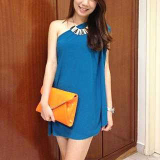 Toga Cocktail Dress In Blue/Green Color