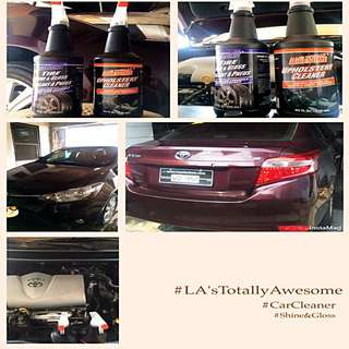 **BRAND NEW LA's Totally Awesome 946ML Upholstery Cleaner & Tire Shine-Gloss FOR ONLY P199.75!!**