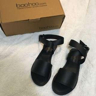 Black Boohoo Sandals