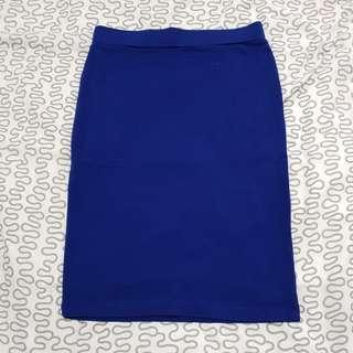 Midi Dark Blue Skirt