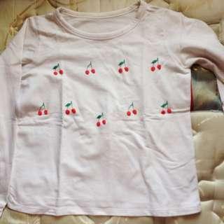Cherry Kaos Tangan Panjang